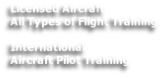 Licensed Aircraft